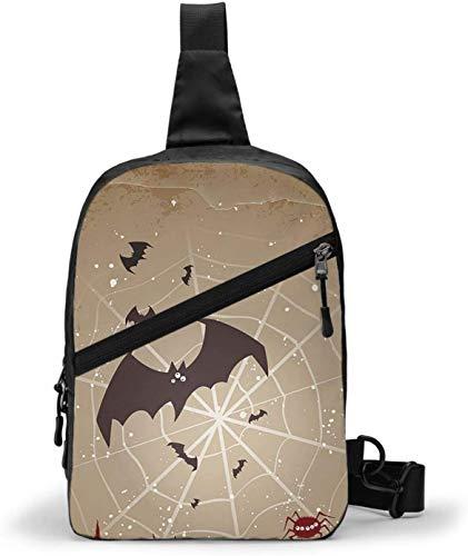 Bolsa bandolera para Halloween con murciélagos, bandolera, para senderismo, viajes, bolsa de bolsillo personal para mujeres, hombres, resistencia al agua