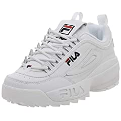 Durable synthetic upper with tonal stitching Breathable textile lining for comfort Removable, textile lined insole for cushioning Thick EVA midsole for shock-absorption Chunky rubber sole with razor-edge pattern treading for traction