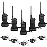 Retevis RT86 Long Distance Walkie Talkies High Power,Heavy Duty Two Way Radio with 2600mAh Rechargeable,Emergency USB Charging 2 Way Radio with Earpiece(5 Pack)