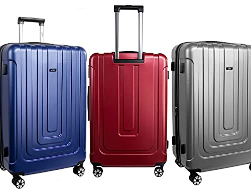 Valigetta rigida da viaggio M-L-XL in ABS, 4 ruote doppie girevoli a 360°, con serratura a combinazione di alta qualità, adatta anche come bagaglio a mano, argento, xl,