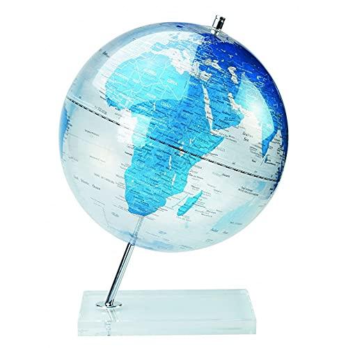 AC-Déco MS-1218T9 Globe, Métal, Bleu, 30 cm