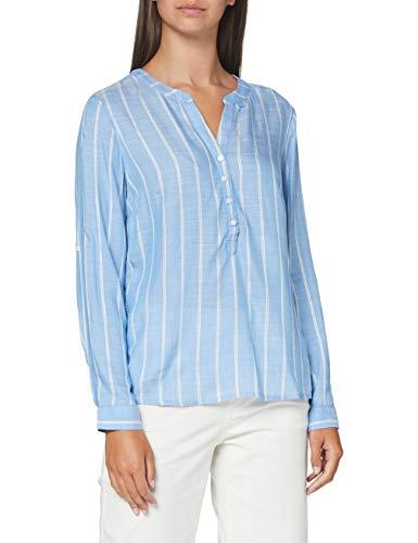 TOM TAILOR Damen Dobby Struktur' Bluse, Blau (22803-blue Stripe Vertical), 40