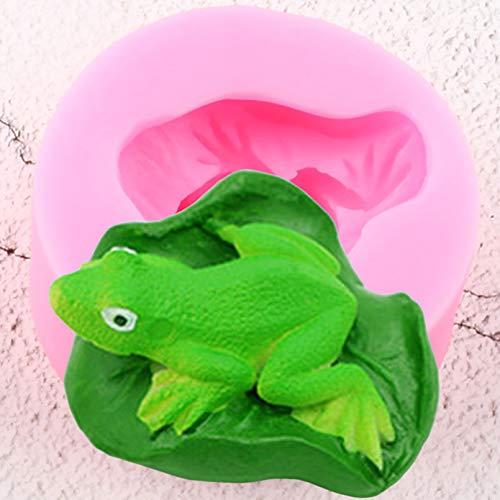 JACKWS Frosch SilikonformenPolymer Ton Kerzenform DIY Lotus Blätter Fondant Kuchen Dekorationswerkzeuge Candy ChocolateMoulds