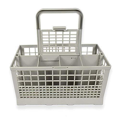 Almacenamiento de cocina clásico gris 8 ranuras lavavajillas cubiertos cesta bandeja jaula para Hotpoint e Indesit máquinas cocina sosteniendo lavavajillas organizador