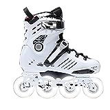 Patines en línea seguro y duradero con ruedas iluminadas, patines para principiantes para niños, jóvenes y niñas al aire libre (color: blanco, tamaño: EU 42/US 9/UK 8/JP 26cm)