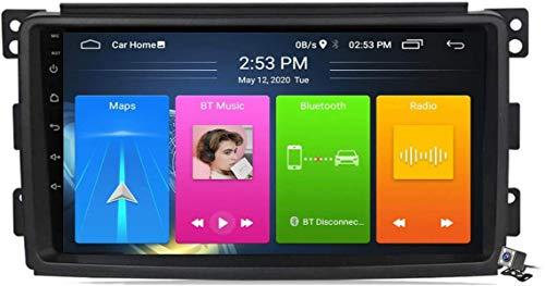LYHY Android 10 Radio de navegación GPS para automóvil para Mercedes Benz Smart 2005-2010 con Pantalla táctil de 9 Pulgadas Soporte FM Am RDS DSP/MP5 Player/BT Control del Volante/Carplay