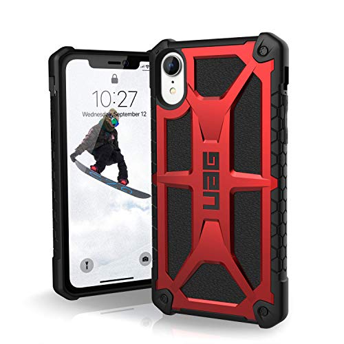 "URBAN ARMOR GEAR UAG iPhone XR [6.1"" Screen] Monarch Feather-Light Rugged [Crimson] Military Drop Tested iPhone Case"