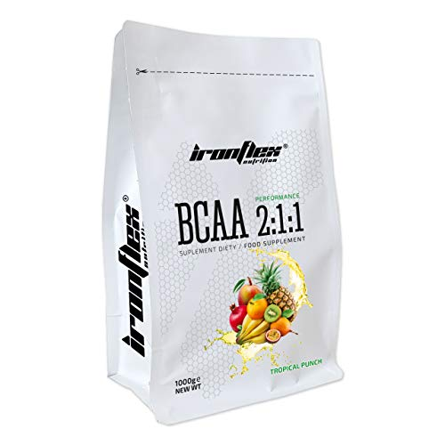 Iron Flex BCAA 2-1-1-1 Pack - Branched Chain Amino Acids in Powder - Muscle Regeneration - Anticatabolic (Tropical Punch, 1000g)
