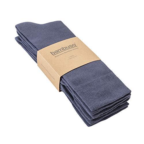 Bambuso Original 3er Pack Super Soft Herren Premium Bambus Socken Gr. M, navy