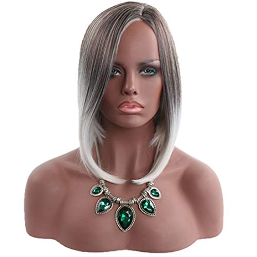 Hexiaoyi Dames Perruque de Mode réaliste Natural High école Droites Courtes Perruques Réchauffez Fil (Color : Wig)