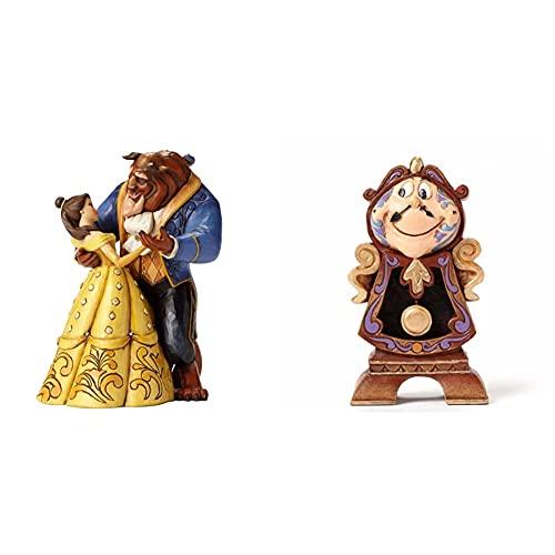 Disney Traditions , Figura De Bella Y Bestia Bailando De La Bella Y La Bestia, para Coleccionar, Enesco + , Figura De DIN Don De La Bella Y La Bestia, Enesco