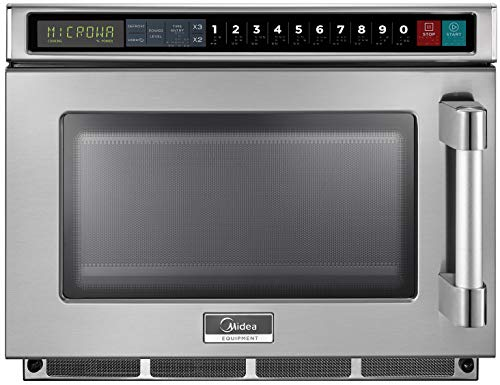 Midea Equipment 1200 Watt Scanning Commercial Microwave Oven, 1200W, Stainless Steel (1217G1S)