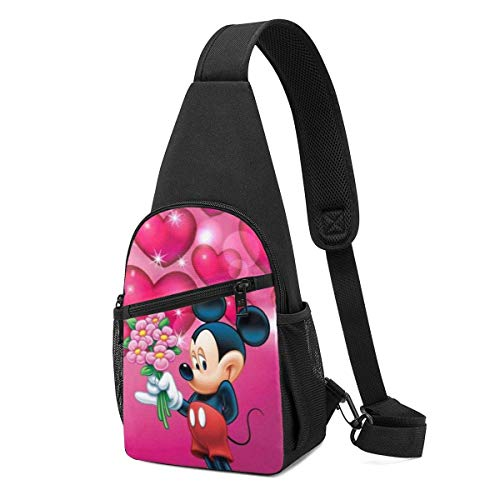 Boweike Sling Backpack Casual Lovely Mickey Mouse Crossbody Daypack Shoulder Bag Chest Bag Rucksack