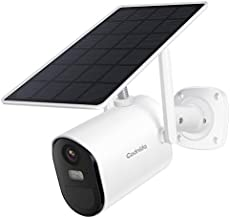 Security Camera Outdoor,Solar Powered WiFi Camera for Home Security,Wireless Security Camera with Motion Detection,1080P HD,2-Way Audio,Night Vision,IP65 Weatherproof,SD/Cloud Storage,Codnida