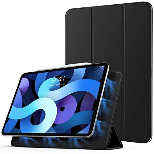 TiMOVO Hülle für iPad Air 4. Generation 10.9 Zoll 2020 Tablet, Schutzhülle mit Auto Schlaf/Aufwach Funktion, Magnetisch Befestigung und Ladung für iPencil - Schwarz
