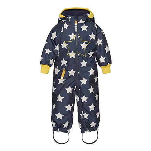 Racoon Baby-Boys Lukas Star Winter Suit Snowsuit, Stars with Yellow, 74