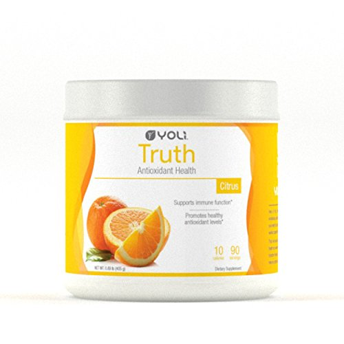 Yoli Truth  Delicious Drink Mix That Promotes Healthy Antioxidant Levels  Sugar Free Canister  90 Servings