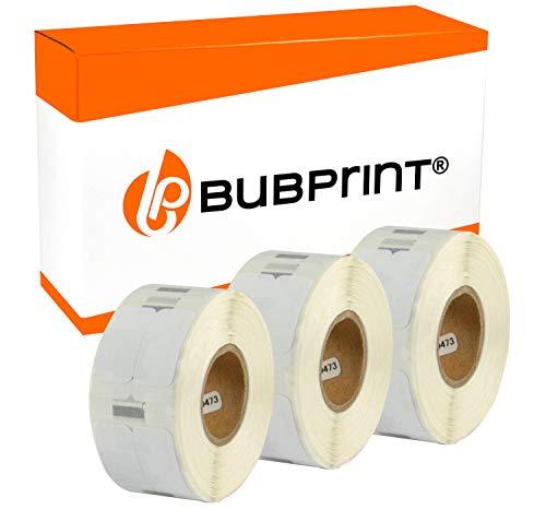 Bubprint 3 Etichette compatibile per Dymo 11353 S0722530 per Labelwriter 310 320 330 Turbo 400 Twin Turbo Duo 450 Twin Turbo Duo SE450 25X13MM Bianco
