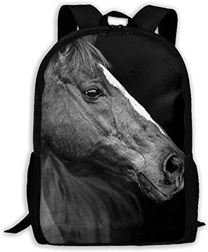 3D Printed School Bags,Horse Pattern School Backpack Adult Backpack Lightweight Casual Basic Bookbag for Boys & Girls Full Print Fashion Adult Daypacks
