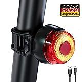 【Neuestes Modell】Antimi Fahrrad Rücklicht LED Fahrradlicht,Fahrradrücklicht USB Aufladbar Fahrradbeleuchtung mit StVZO Zugelassen,IPX4 Wasserdicht,220 Grad Weitwinkelsicht für...
