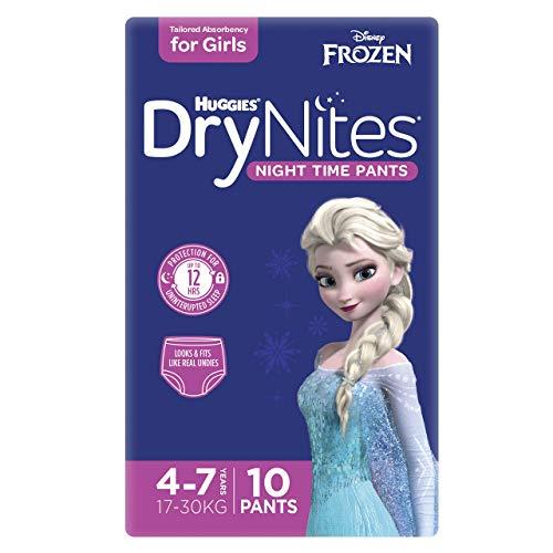 Huggies DryNites hochabsorbierende Nachtwindeln bei Bettnässen, für Mädchen 4-7 Jahre, 30 Stück