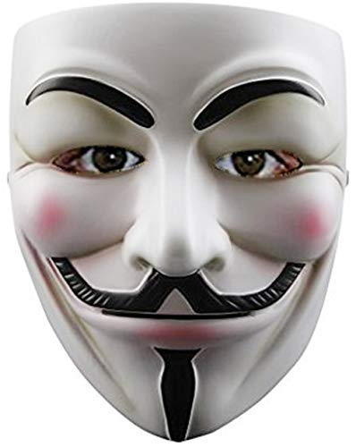 Guy Fawkes Halloween Costume V For Vendetta Mask Anonymous Fancy Cosplay