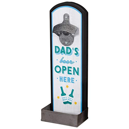 De originele knappe Chap Collectie Vaderdag Vader Verjaardag Muur Gemonteerd Slogan Plaque flesopener (Dad's Beer Open hier)
