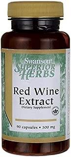 Swanson Red Wine Extract 500 Milligrams 90 Capsules