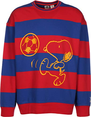 Levis x Peanuts Relaxed Crew Sweatshirt Yellow Outline Snoopy M