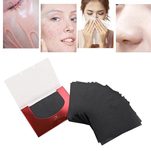 Tissus absorbants d'huile, 90Pcs / Pack Film de maquillage Nettoyer et effacer Feuilles de contrôle absorbant l'huile Face Clean Clean Blotting Paper