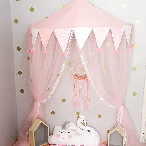 Sue-Supply Prinzessin Betthimmel für Mädchen - Kinderbett Zelt Leseecke Layout Half Moon Game House Betthimmel