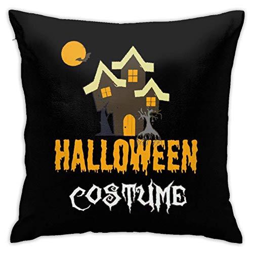 Wurfkissen mit Kisseneinlage, Halloween-Kostüm, quadratisch, Heimdekoration für Schlafcouch, Sofa, 45,7 x 45,7 cm