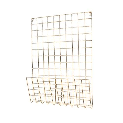 CQ Nicht perforierte Balkon-Eisen-Kunst-Wand-hängenden Zahnstangen-grüne Küchen-Badezimmer-Trennwand-hängenden Zahnstange (Color : Golden)