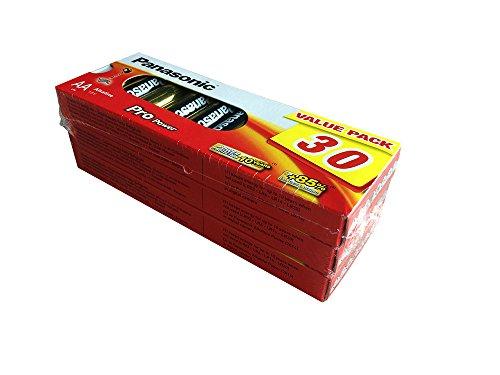 Panasonic LR6PPG/30BB Pro Power Alkaline Batterie, AA - Mignon - LR6, 30er Pack Gold