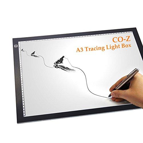CO-Z A3 LED Tracing Light Box Sketching Drawing Light Pad Artist Stencil Board Ultra-thin 19