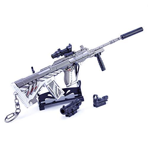 DJIEYU 1/4 Escala Militar Miniatura del Ejército de Asalto Mini Agostos de Asalto Pistolas de Metal Modelo Pistola Figura Accesorios de Juguete Llavero Die Cast Decoración Juguetes