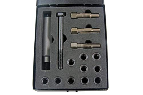 US PRO Glühkerzen Gewinde-Reparatur-Satz M10x1.0 Gewindebohrer Gewindeschneider Einsätze