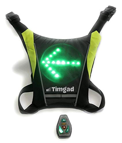 Timgad Chaleco Intermitente LED de Seguridad Reflectante Muy Luminoso para Bicicleta, Patinete...