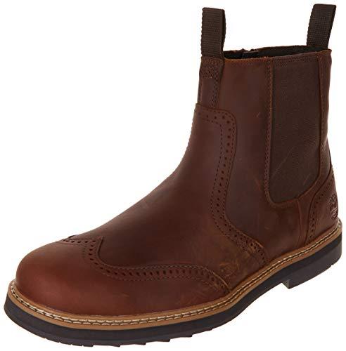 Timberland TB0A2C37F131 Herren Boots Glattleder OrthoLite-Fußbett Gummisohle, Groesse 42, braun