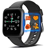 MorePro Blood Oxygen Heart Rate Monitor Smart Watch with 18 Sport Modes, DIY Screen Fitness Tracker with Music Control, Sleep Tracker Waterproof Pedometer Step Calories Counter for Women Men