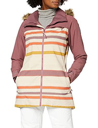 Burton Damen Snowboard Jacke Lelah, Rose Brown/Creme Brulee Woven Stripe, S, 20541102200