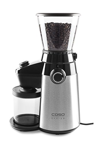 Caso Barista Flavour, elektrische design-koffiemolen, maalgraad in 15 standen instelbaar, kegelmaalwerk van robuust roestvrij staal, aromavriendelijk, voor perfecte koffie & espresso