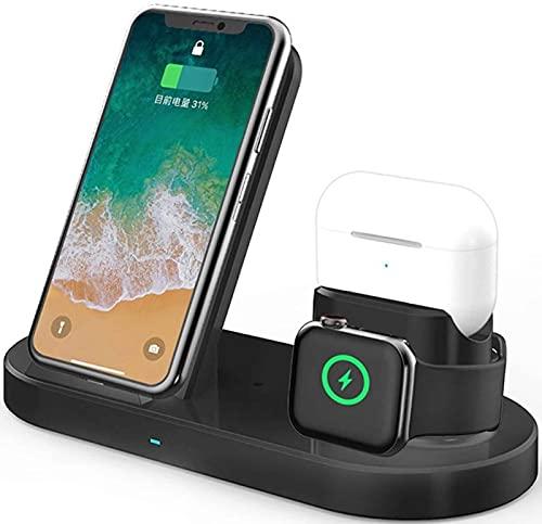 Kettles Soporte de Carga inalámbrica de 15W 3 en 1 Soporte de Cargador inalámbrico Compatible con múltiples Dispositivos/Dock de Carga Compatible con Apple Watch, Airpods/iPhone X/XS/XR/XS MAX / 8