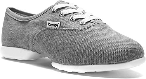 Rumpf Bee 1515 Dance Tanz Sport Sneaker Hip Lindy Hop Trainings Schuhe Leinen, Grau, 39 EU