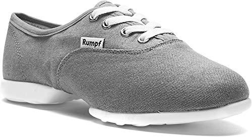 Rumpf Bee 1515 Dance Tanz Sport Sneaker Hip Lindy Hop Trainings Schuhe Leinen, Grau, 39 EU