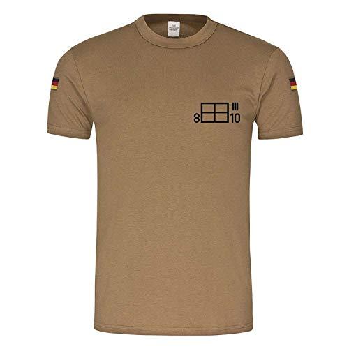 Copytec BW Tropen 8 SanRgt 10 - Registro de sanidad, caracteres tácticos del ejército alemán en el Neckar Alfashirt #24039 caqui L
