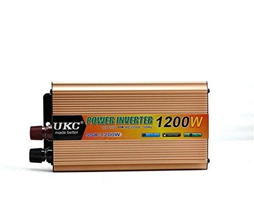 Preisvergleich Produktbild Spannungswandler KDLD Auto Power Inverter 1200W DC 12V bis 220V AC Fahrzeug-Konverter Auto-Inverter-Stromversorgungs-Schalter On-Board-Ladegerät USB