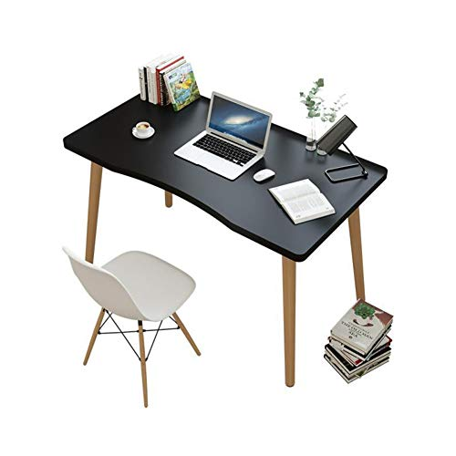 HXSKI Modern Style Computer Desk,Child Study Table,Minimalist Writing Table,Easy To Assemble Space-saving For Home Office Study Writing-Black. 120x60x73cm(47x24x29inch)