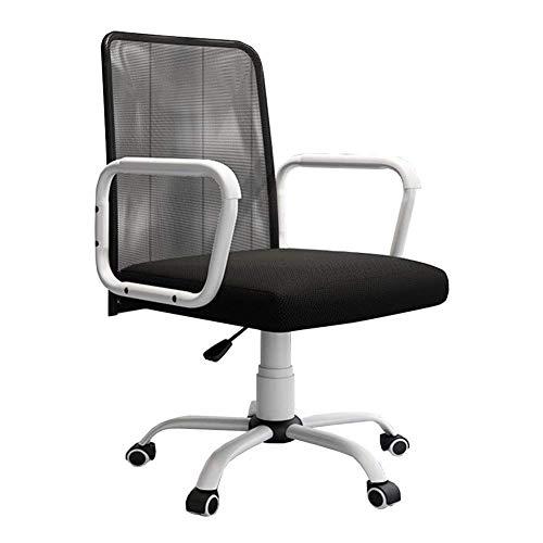 JIEER-C-vrijetijdsstoelen bureaudraaistoel, messen-computer-stoel-riemschijf draaiende stoel conferentiekamer-vrijetijds-kantoor-accessoires duurzaam, goed sterk zwart