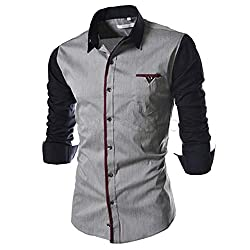 IndoPrimo Mens Cotton Casual Shirt for Men Full Sleeves